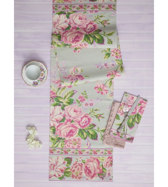 Strawberry Shortcake Runner in Sage | April Cornell