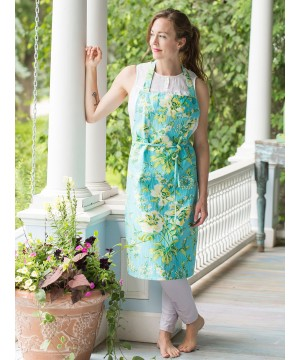 Pistachio Apron in Turquoise | April Cornell