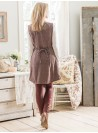 Dahlia Sweater Dress in Brown by April Cornell