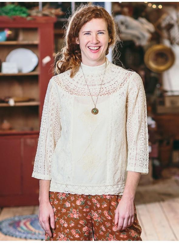 Maribelle Blouse in Ecru by April Cornell