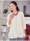 The Romany Blouse in Ecru by April Cornell
