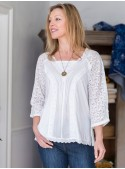 Juliet Blouse in White | April Cornell
