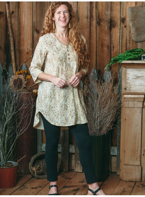 Halcyon Tunic in Ecru Gold by April Cornell