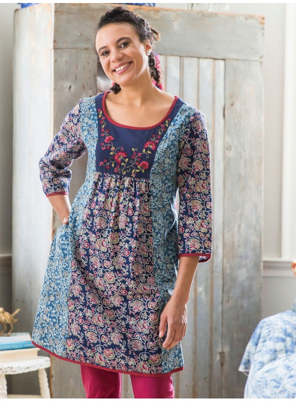 Frieda Tunic in Indigo by April Cornell