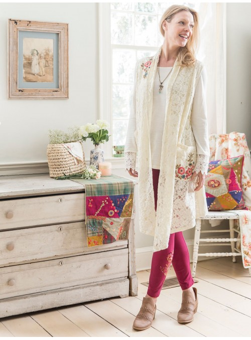 Free Spirit Duster in Ecru by April Cornell