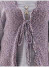 Coquette Cardigan in Orchid by April Cornell