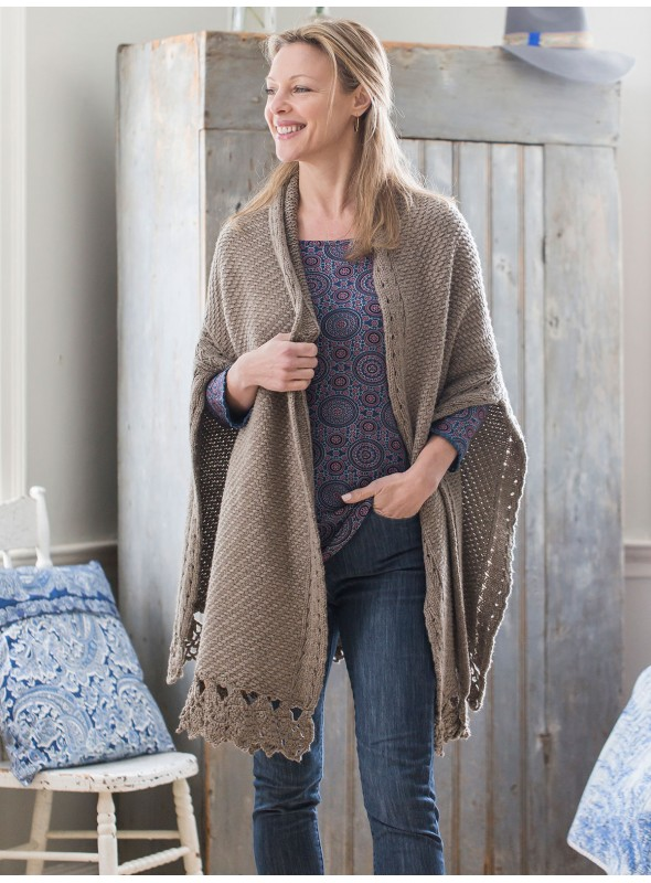 Afghan Cardigan in Pewter by April Cornell
