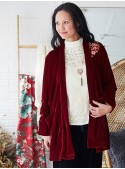 Autumn Cardigan in Scarlet | April Cornell - SOLD OUT